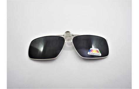 Поляризационные накладки-шторки на очки Polarized в металлической оправе, черный/200013 by