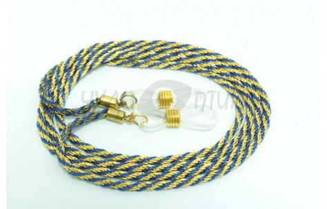 Шнур для очков (золотой + синий)