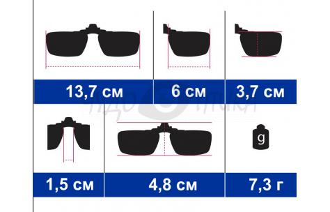 Поляризационные накладки-шторки на очки Polarized зеленые, размер M