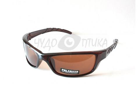 Спортивные очки Polarised Sport PL9018 C4, коричневые