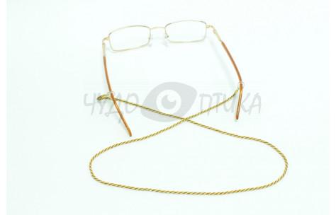 Шнур для очков (золотой + коричневый)
