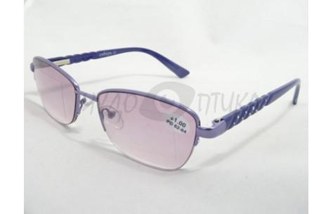 Солнцезащитные очки с диоптриями Сибирь1503 С-7 фиолетовые/705014 by Неизвестен