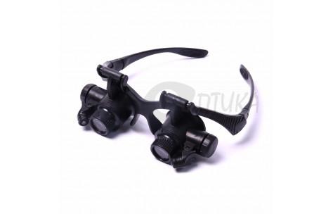 Бинокулярные очки-лупы с подсветкой и широкими дужками /602010 by .