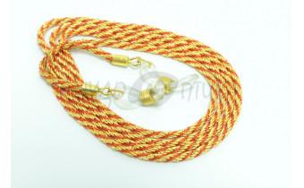 Шнур для очков (золотой + красный)