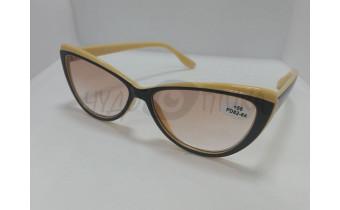 Солнцезащитные очки с диоптриями Ralph RA 0406 черно-бежевые