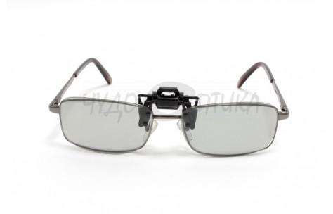3D накладки-шторки на очки поляризационные, размер M