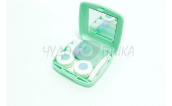 Дорожный набор для контактных линз, зеленый
