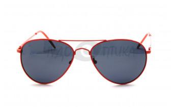 Солнцезащитные подростковые очки OLO P720 с4 в красной оправе