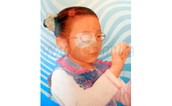 Самоклеющийся тканевой окклюдер  на детские очки (2шт)