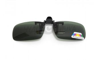 Поляризационные накладки-шторки на очки Polarized зеленые, размер S