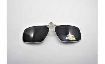 Поляризационные накладки-шторки на очки Polarized в металлической оправе, черный