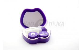 Дорожный набор для контактных линз Peacock Princess A-8082, фиолетовый