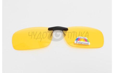 Поляризационные накладки-шторки на очки Polarized черные, коричневые, желтые/200029 by Polarized