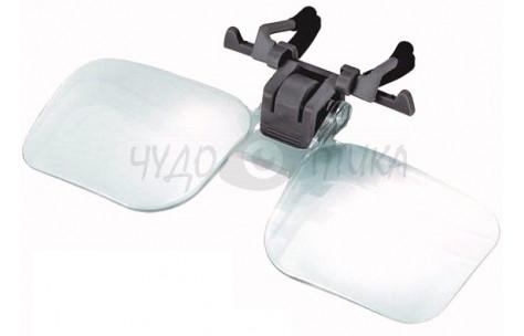 """Увеличивающие накладки-шторки на очки """"Лупы"""", 2х"""