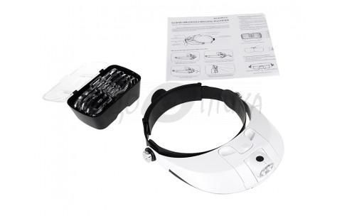 Бинокулярные очки-шлем со сменными лупами MG81001-G