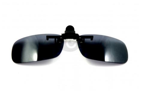 Поляризационные накладки-шторки на очки Polarized зеленые и черные/200023 by Polarized
