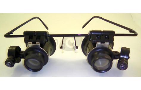 Бинокулярные очки-лупы с подсветкой/602009 by .