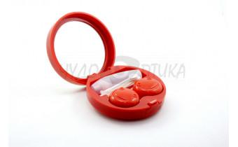 """Дорожный набор для контактных линз """"Роза"""" A-1302, красный"""
