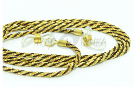 Шнур для очков (золотой + черный)