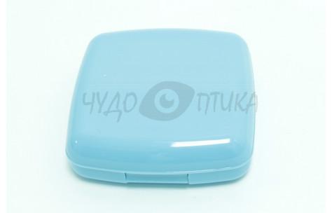 Дорожный набор для контактных линз, голубой