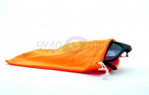 Футляр для с/з очков текстильный, оранжевый