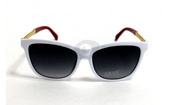 Солнцезащитные очки в белой оправе Aras Wayfarer 1792 c3, женские