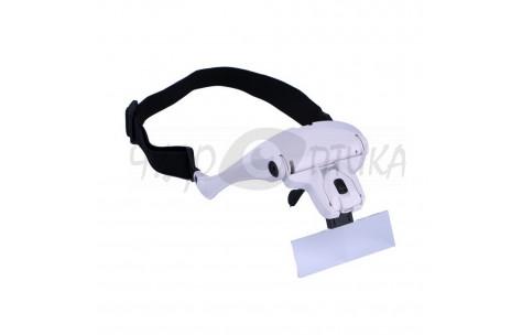 Бинокулярные очки-шлем со сменными лупами Magnifier 1x 1.5x 2x 2.5x 3.5x/602011 by No name