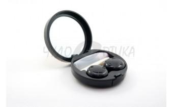 """Дорожный набор для контактных линз """"Роза"""" A-1302, черный"""