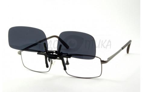 Поляризационные накладки-шторки на очки Polarized черные, размер L