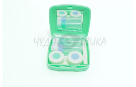 Дорожный набор для контактных линз, зеленый/502005 by No name