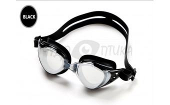Очки для плавания с диоптриями , черные