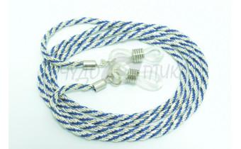 Шнур для очков (серебряный + синий)