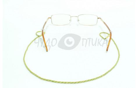 Шнур для очков (золотой + зеленый)