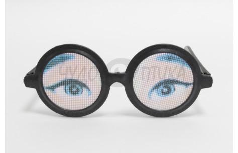 """Карнавал. Очки-глаза """"Пристальный взгляд"""", черные"""
