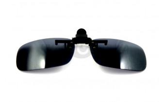 Поляризационные накладки-шторки на очки Polarized черно-серые, размер S