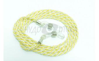 Шнур для очков (серебряный + желтый)