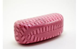 """Футляр для солнцезащитных очков """"Крокодил"""", розовый"""