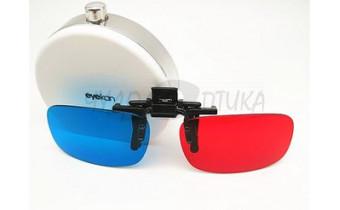 3D накладки-шторки на очки анаглафические (стерео), размер M