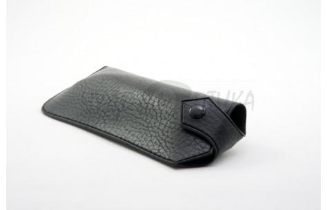 """Футляр """"Кожаный карман на кнопке"""" A-3, черный"""