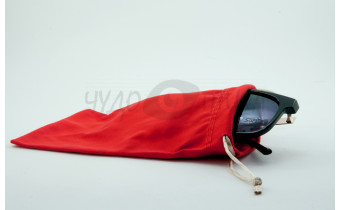 Футляр для с/з очков текстильный, красный