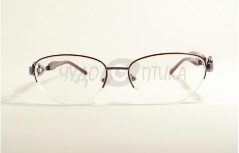 Очки для зрения вдаль EAE 129 С16 в фиолетовой оправе