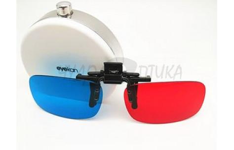 3D накладки-шторки на очки анаглафические (стерео), размер M/201002-M by No name