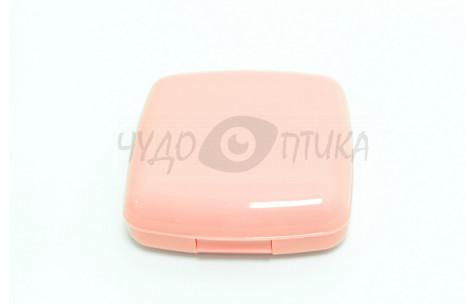 Дорожный набор для контактных линз, розовый/502003 by No name